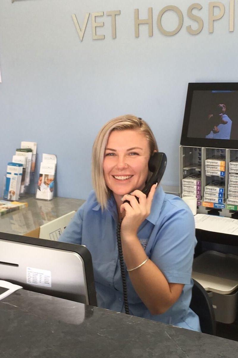 Receptionist Simone